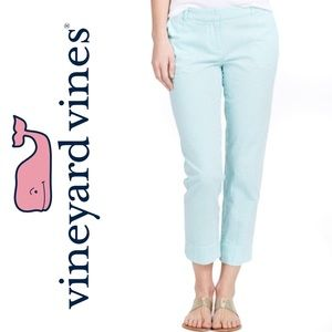 Vineyard Vines Green Seersucker Ankle Pants